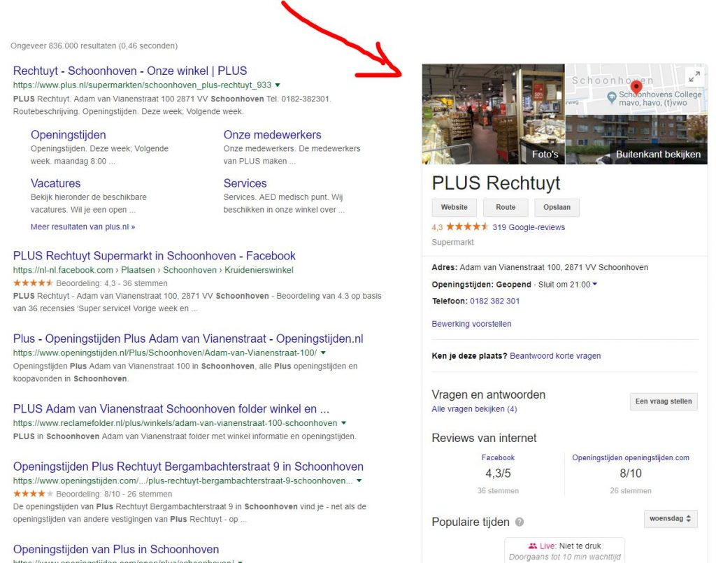 google mijn bedrijf aanpassen waardoor reviews te beheren zijn.